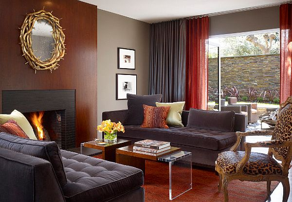 Grey-and-Red-living-room-with-tufted-furniture