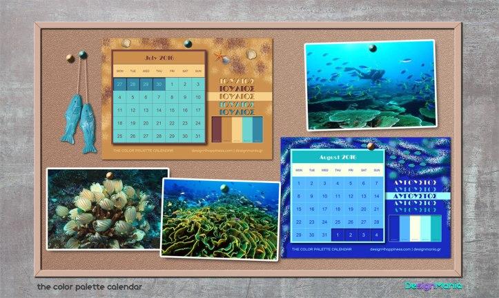 d4h color palette calendar 2