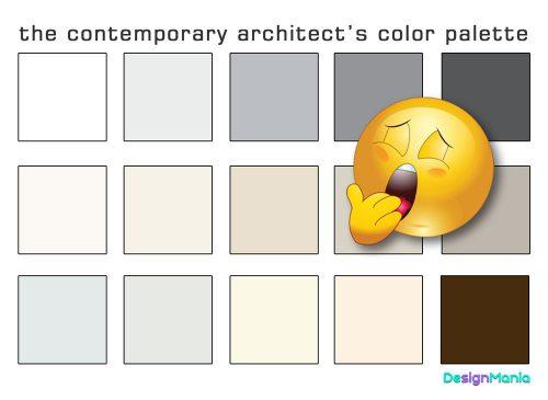the contemporary architect's color palette
