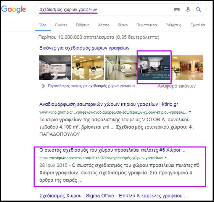 σχεδιασμός χώρων γραφείων Αναζήτηση Google